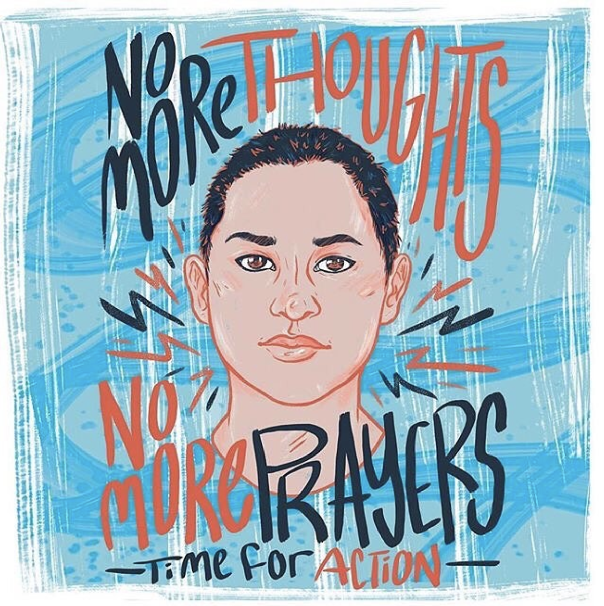 Emma Gonzalez illustrated by Shering Snippets